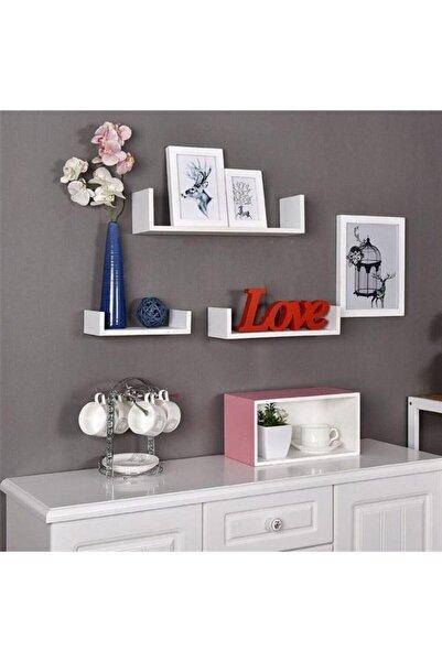 GörSeç Çocuk Odası Duvar Raf Seti 3'lü Kitaplık ,süslük,çiçeklik Duvara Monte(30-45-60 Cm Derinlik 15 Cm)