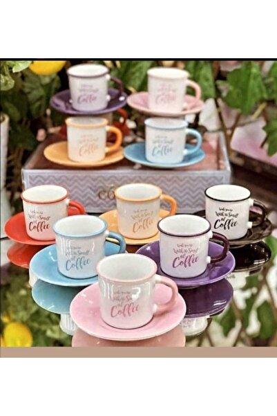 Lavin Renkli 6' Lı Fincan Takımı