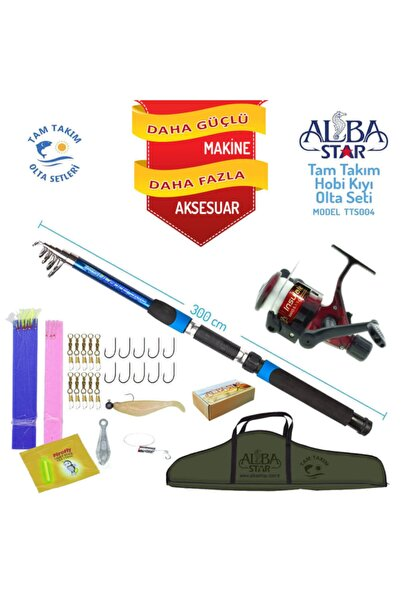 Albastar Tam Takım Hobi Kıyı Olta Seti - 300cm Kamışla - Tts004 Standart 300cm