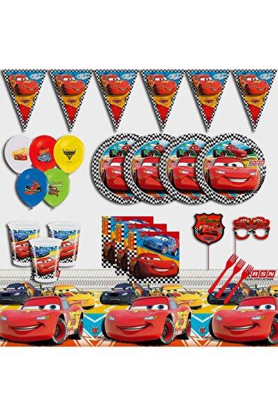CARS Şimşek Mcqueen Arabalar 16 Kişilik Doğum Günü Parti Malzemeleri Seti