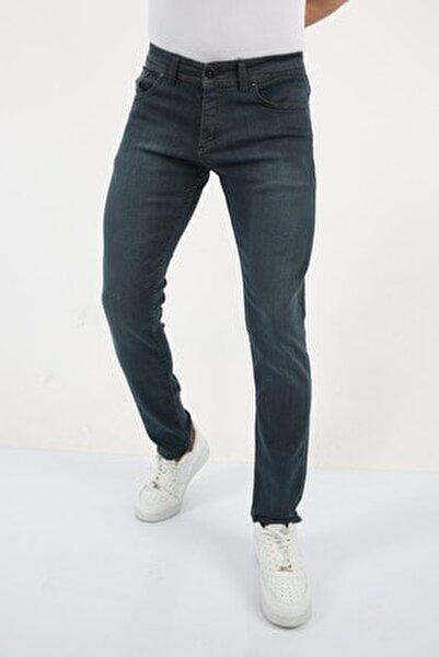 Erkek Dark Blue Slim Fit Jean Pantolon