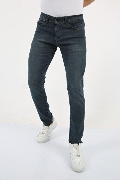 Anglee Jeans Erkek Dark Blue Slim Fit Jean Pantolon
