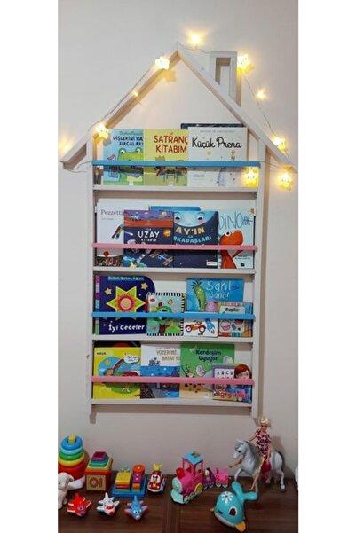 NİNNOLA Montessori Çatılı Ahşap Kitaplık