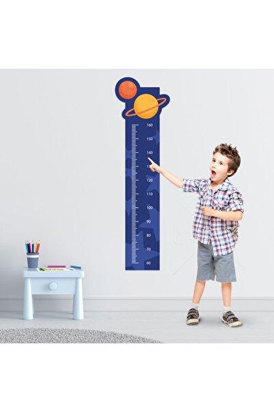 Tilki Dünyası Gezegenler Boy Cetveli Duvar Sticker