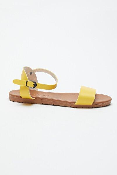 Tonny Black Kadın Sarı Sandalet  Ayakkabı