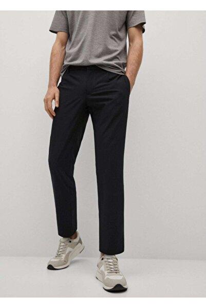 MANGO Man Dar Kesimli Teknik Kumaşlı Pantolon