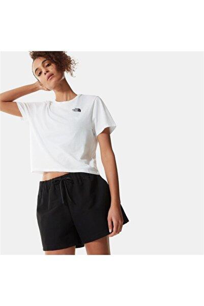 THE NORTH FACE Kadın Beyaz Foundation Cropped Outdoor Tişört