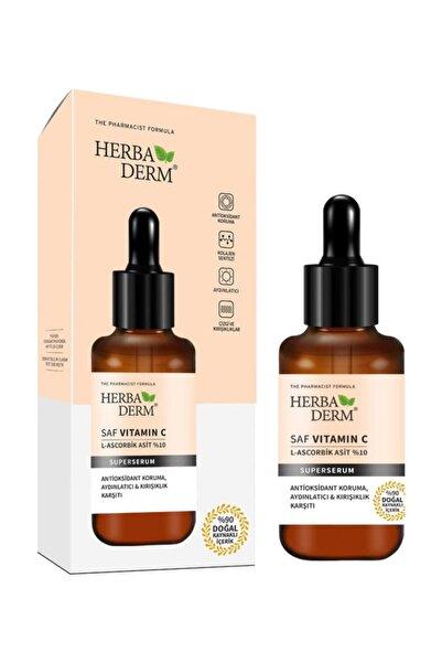 Herbaderm Superserum Saf Vıtamın C 30ml Aydınlatıcı + Kırışıklık + Antioksidan