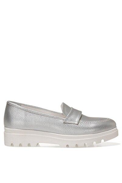 Nine West PIPER 1FX Gümüş Kadın Loafer Ayakkabı 101009742