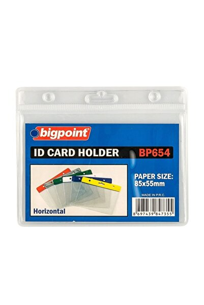 Bigpoint Kart Poşeti Yatay Şeffaf 85x55mm 10'lu Poşet