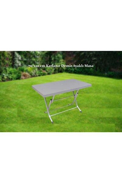PRS 70*120 Cm Katlanır Masa Kalın Plastik Bahçe Ve Balkon Masası