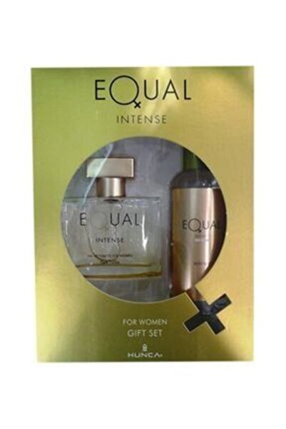 Equal Intense Edt 75 ml + 150 ml Vücut Losyonu Kadın Parfüm Seti 8690973366207