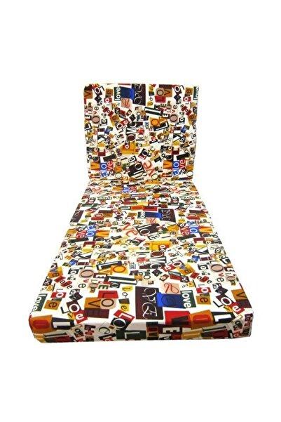 ulbay home collection Tek Kişilik Katlanır Yatak Sünger Yatak Minder 70x180 Cm Love Desen