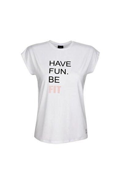 Kinetix Kadın Beyaz  Kısa Kol T-shirt