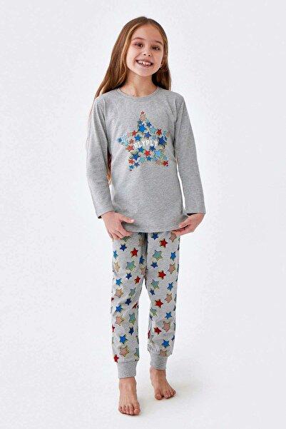 ROLY POLY Kız Garson Çocuk Pijama Gri 2307