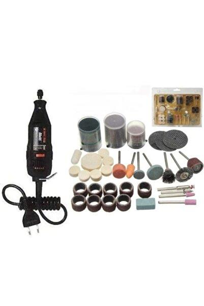 morponi Mini Taşlama Gravür Oyma Dremel Hobi Makinesi(105 Parça Hobi Uç Seti)