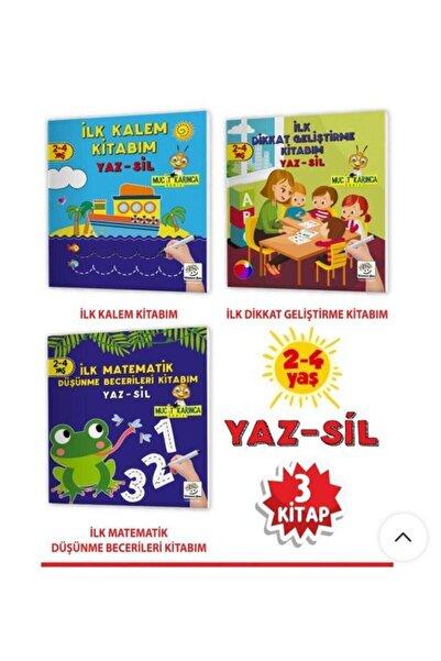 Yükselen Zeka Yayınları 2-4 Yaş Evde Etkinlik Seti – Mucit Karınca Serisi Yaz-sil Kitaplar