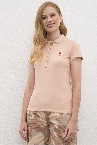 U.S. Polo Assn. Pembe Kadın T-Shirt