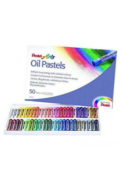 Pentel Arts Oil Pastels 50 Renk Yağlı Pastel Boya Seti