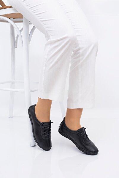 SME SHOES Kadın Siyah Günlük Rahat Ayakkabı 5001