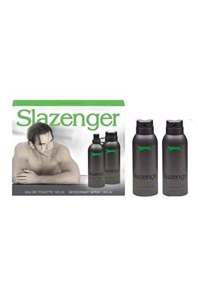 Slazenger Active Sport Yeşil Edt+deo Set+ 2 Deo 125 Ml