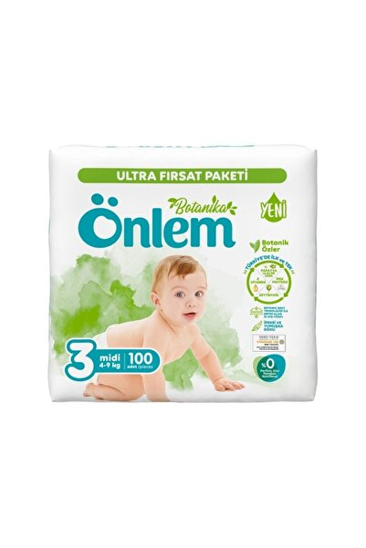 ÖNLEM Botanika Bebek Bezi 3 No Ultra Fırsat Paket 4-9 Kg 100 Adet