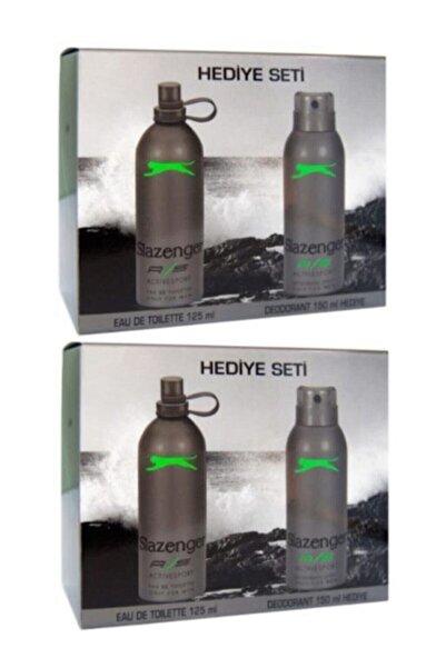 Slazenger Sport Yeşil 125 ml 150ml Deodorant Erkek Parfümüx2adet