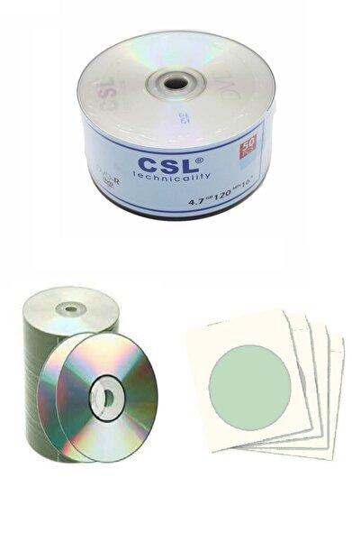 CSL Boş Cd-r 700mb-80mın 52x 15 Adet Ve Cd Zarfı 15 Adet