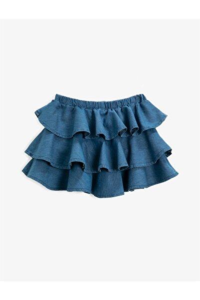 Koton Kız Çocuk Mavi Fırfırlı Etek