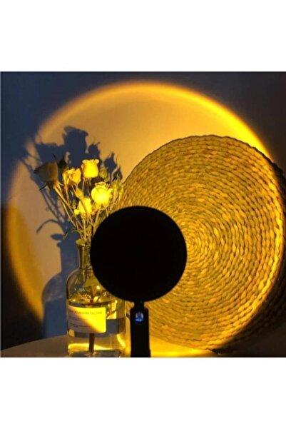MiniHome Gün Batımı Projeksiyon Masa Lambası Romantik Fotoğraf Çekimi Aydınlatma Standlı Usb Led Işık