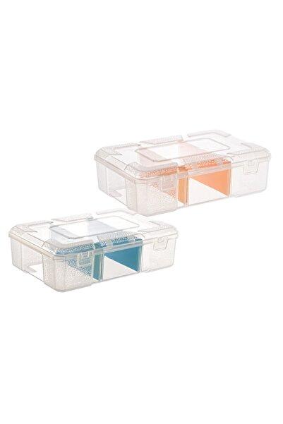 Asrın plastik Tekreyonda Organizer Kutu Box Dikiş Kutusu Şeffaf Vida Makyaj Kutusu Ilaç Kutusu Bölmeli Organizer