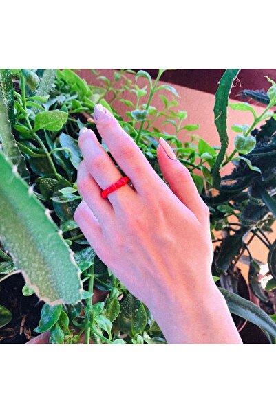 OnBy Design Kırmızı Boncuk Yüzük