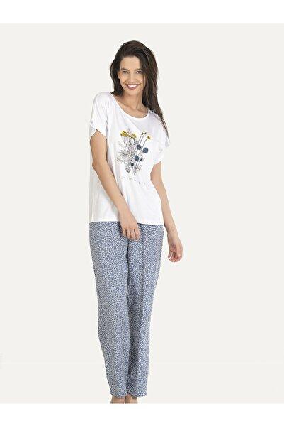 NBB Kadın Gri Minimalist Pijama Takımı 67180