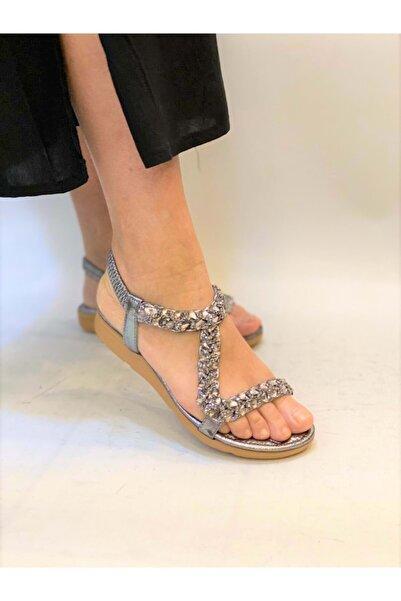 Guja Kadın Günlük Taşlı Lastikli Sandalet 21y120-12