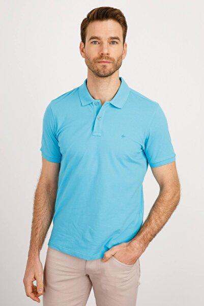 İgs Erkek Turkuaz Modern Fit Polo Yaka T-shirt