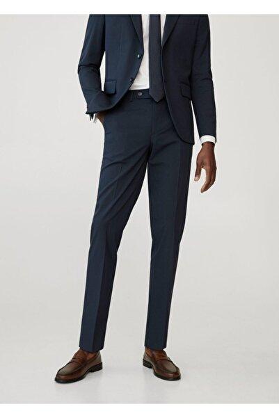MANGO Man Erkek Lacivert Dar Kesimli Takım Pantolon