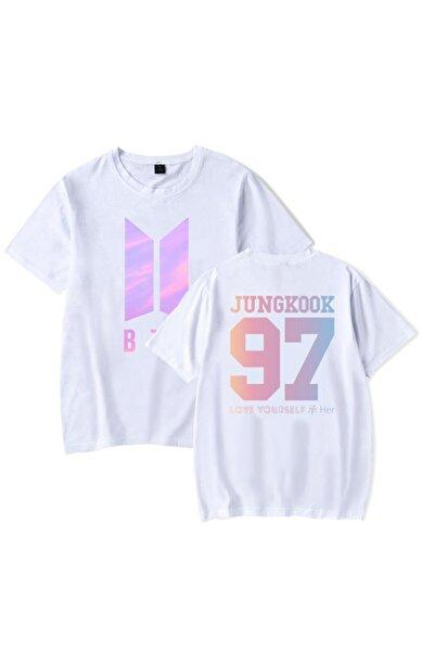 TakeTshirt Unisex Beyaz  Bts Jungkook Tişört