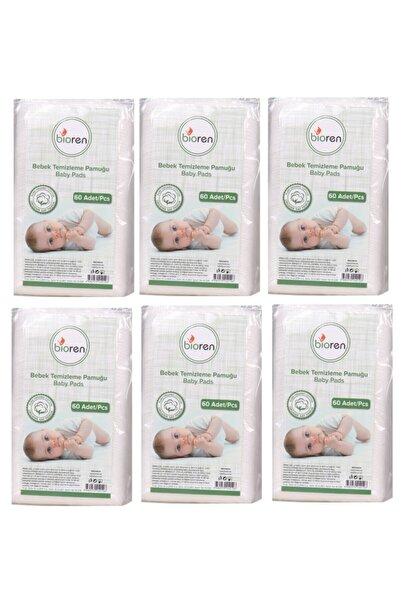Bioren Bebek Temizleme Pamuğu 60'lı Poşet 6'lı Paket