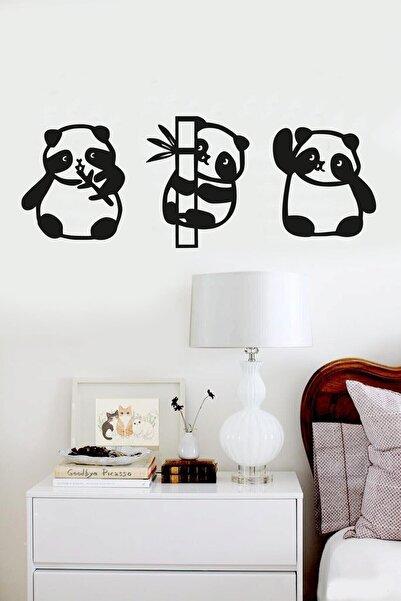 RetroLazer Panda 3lü Duvar Dekoru