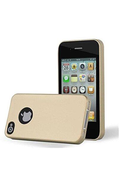 Molly Iphone 4/4s Uyumlu Gold Mat Silikon Kılıf