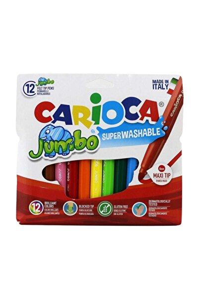 CARIOCA Jumbo Süper Yıkanabilir Keçeli Boya Kalemi 12'li
