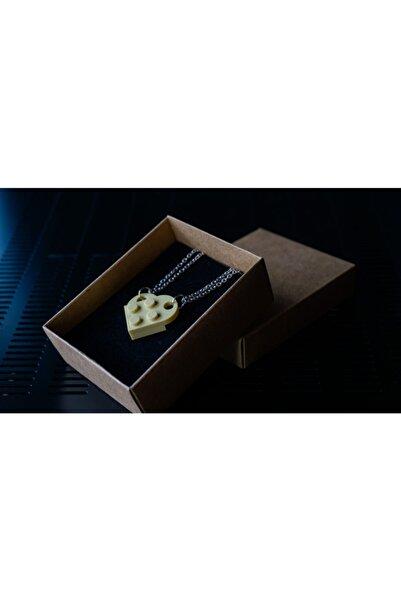 LEGO Kalp Çift Kolyesi Tan