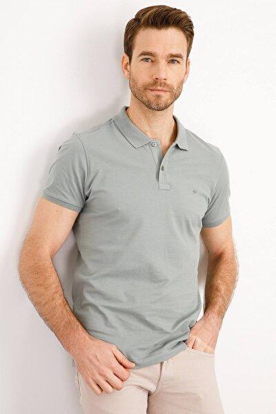 İgs Erkek Yeşil Modern Fit Polo Yaka T-shirt