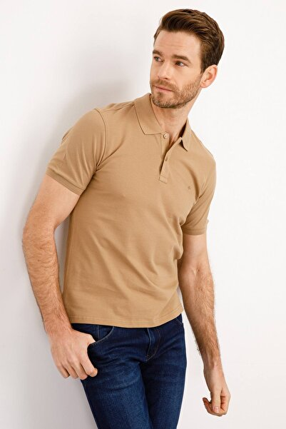 İgs Erkek Vizon Modern Fit Polo Yaka T-shirt