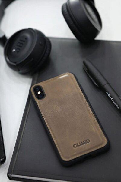 GUARD Antik Deri Kahverengi Iphone X / Xs Kılıfı