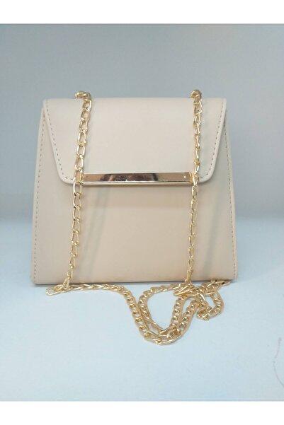 dizaynbag Kadın Bej Zincir Askılı Çanta