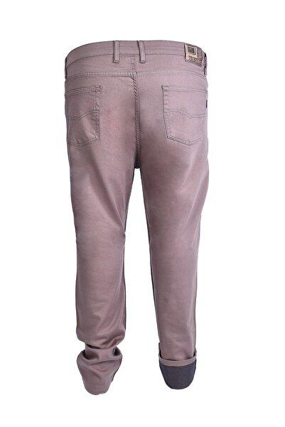 Morwagon Büyük Beden Erkek Bej Keten Pantolon