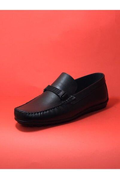 Modesa Siyah Erkek Cilt Deri Ortopedi Yazlık Ayakkabı