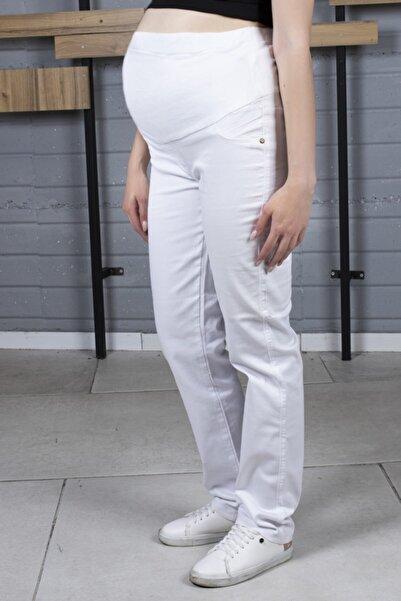 MARK STAR Kadın Beyaz Hamile Pantolonu
