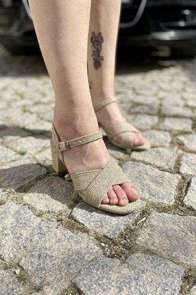 amarederi Kadın Hasır Hakiki Deri Ortopedik Sandalet